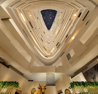 29-floor high atrium at Hyatt Regency Suzhou, the highest in the city