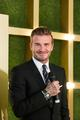 Las Vegas Sands Corp. business partner David Beckham attends the unveiling of the new-look Shoppes at Four Seasons as the guest of honour