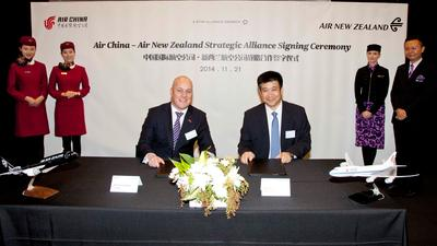 Air China and Air New Zealand agree strategic alliance
