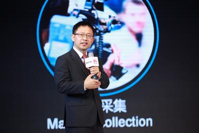 He Dabing, President of Marketing and Solution Sales, Huawei Enterprise Business Group delivers keynote speech today at Huawei and Sobey Omnimedia Industry Summit