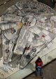 The world's largest Millennium Falcon mode, at 1:6 scale is also on display at Times Square.