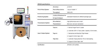 DP2000 Automatic IC Programming System