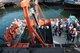 Raised Schottel Hydro SIT 250 Tidal Turbine on Floating Platform at the Lita Ocean Pte Ltd Quay Side after Sea Trials last December 2016