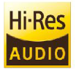 Hear more with Hi-Res Audio support