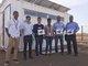 Makeblock technicians and African technicians took photos before Weblabs laboratories
