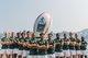 2016-17世界七人榄球巡回赛冠军南非队在大战前来到维多利亚港率先与巨型榄球合照