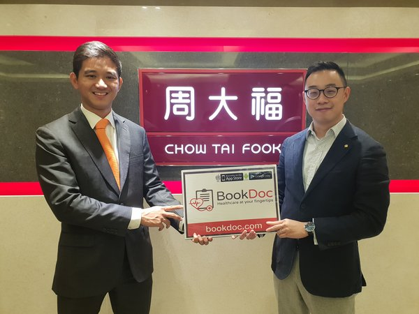 (left) Dato Chevy, BookDoc CEO, Quentin Wong, Chow Tai Fook General Manager of Investment