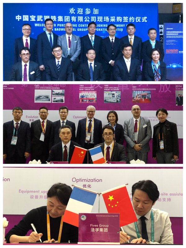 Fives signing cooperation agreement with Baowu group, Benxi steel and Fujian Fuxin in the steel sector