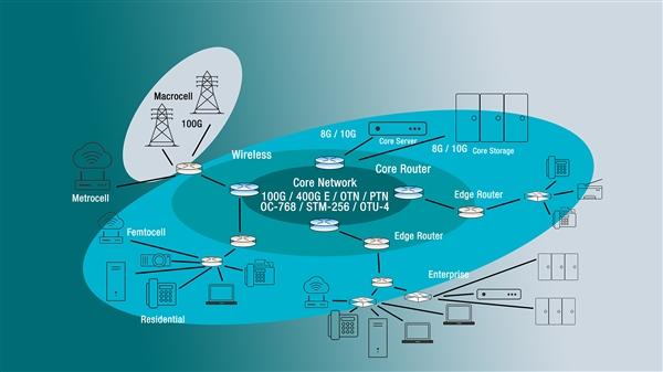 图1:分组交换电信网络