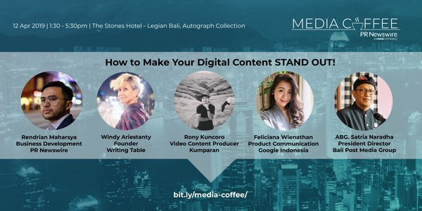 The speakers appearing at PR Newswire's Bali Media Coffee on April 12