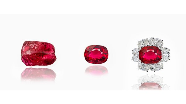照片来源: SSEF GemTrack™是一项使用宝石学技术,把切割的宝石与原石宝石连接起来的服务。