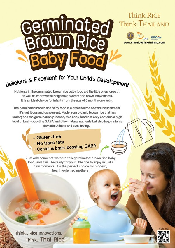 Thai rice - Germinated Brown Rice Baby Food, A Delicious Rice for Child's Development