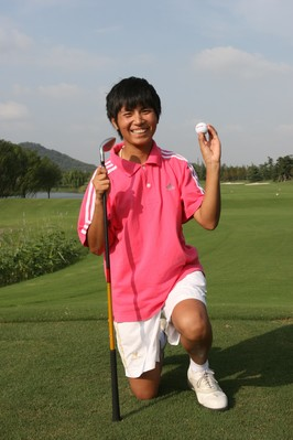 Special Olympics China athlete Haijuan Shao, 30, shot a hole-in-one on 6 October at the 2007 Special Olympics World Summer Games.