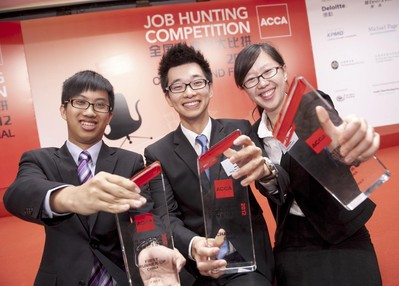 Hong Kong's Third Year Undergrad Student Won National Championship of Job Hunting Competition 2012 and the Most Popular Candidate Award
