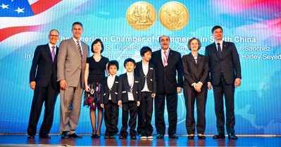 President Harley's family with Under Secretary Sanchez_Minister Counselor Zarit_Consul General Galt and Mr. Greg Wong
