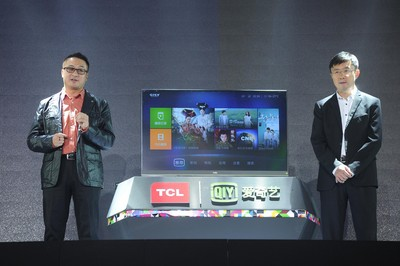 Mr. Hao Yi, Chief Executive Officer of TCL Multimedia and Mr. Gong Yu, Chief Executive Officer of iQIYI to jointly launch a new product