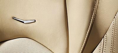 江森自控打造的CTS轿车座椅表面提供全天候的舒适感,<br />前排座椅具备加热通风功能